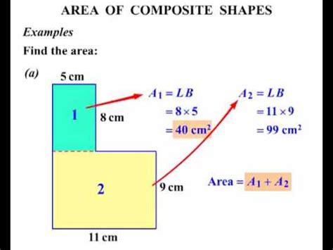 html define printable area area of irregular and composite figures youtube math
