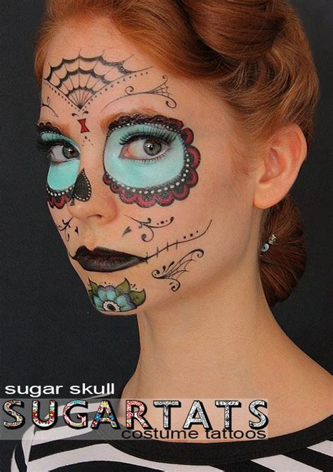 sugar skull temporary tattoo sugar skull calavera temporary costume tattoos by