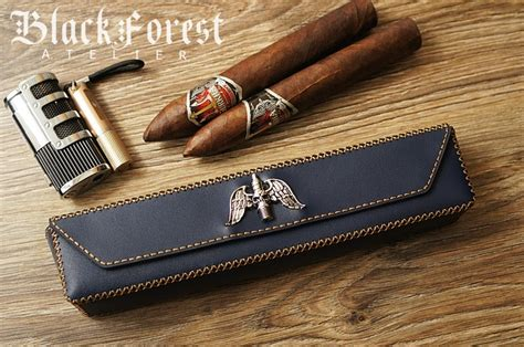 Handmade Cigars - handmade cigar boxes for 2pcs cigars black forest