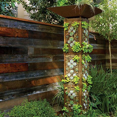 backyard vertical garden plant a garden tower sunset