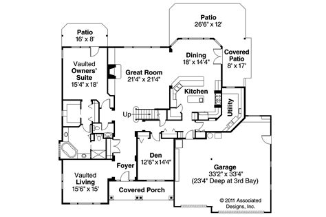 european floor plans european house plans balentine 30 340 associated designs