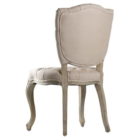 Linen Tufted Dining Chairs Country Tufted Hemp Linen Piaf Dining Chair Kathy Kuo Home