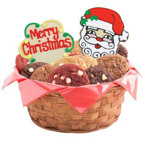 merry christmas gift basket christmas cookie basket cookies  design