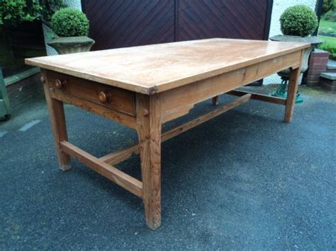 pine farmhouse kitchen table large antqie pine farmhouse dining table kitchen table 7ft