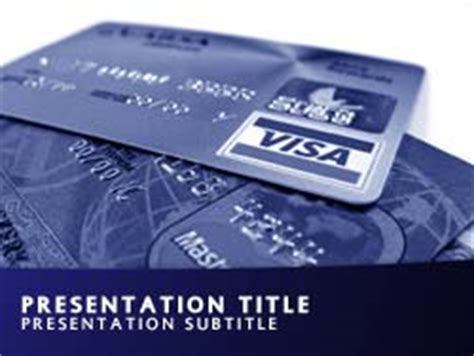 Credit Card Powerpoint Template by Royalty Free Credit Cards Powerpoint Template In Blue