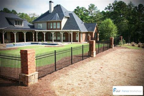 Custom Homes Designs Ornamental Metal Fencing Atlanta Ga Fence Workshop
