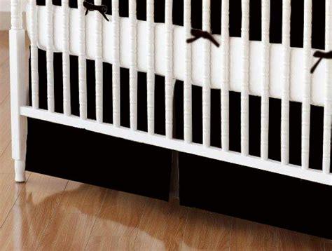 Black Crib Skirt by Crib Skirt Solid Black Jersey Knit Crib Skirts Sheets