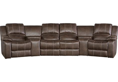 5 pc sectional saybrook brown 5 pc reclining sectional living room sets