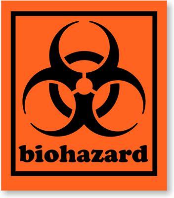 Biohazard 01 Sticker 1 75 in x 2 in biohazard labels sku d1909