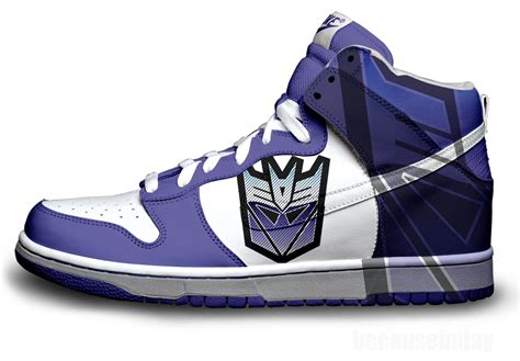 transformers sneakers decepticons nike dunks by becauseimjay on deviantart