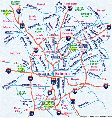 atlanta georgia surrounding area map map of atlanta atlanta maps mapsof net