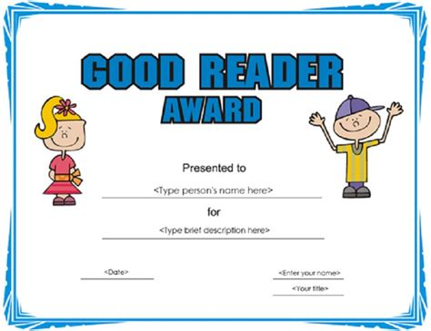 free printable star reader certificates certificate for good reading template loving printable