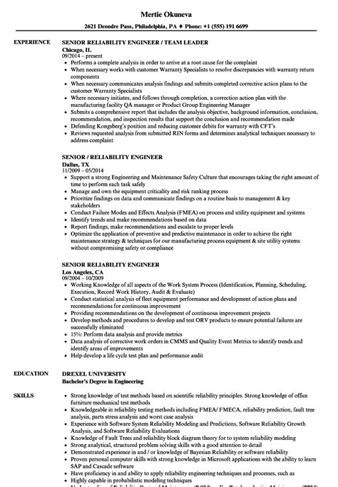 Certified Reliability Engineer Cover Letter by Reliability Engineer Sle Resume Health Psychologist Sle Resume
