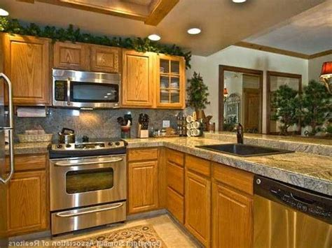 kitchen backsplash ideas  honey oak cabinets dandk organizer
