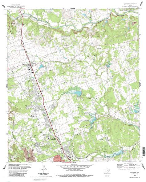 leander texas map leander topographic map tx usgs topo 30097e7