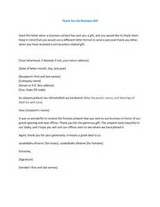 Thank You Letter For Gift Business Best Photos Of Thank You Letter Template Form Business