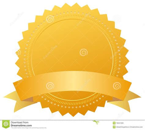 Blank Award Golden Medal Royalty Free Stock Image   Image