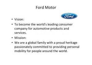 Chrysler Mission Statement Mision And Vission Statement Of Five Company