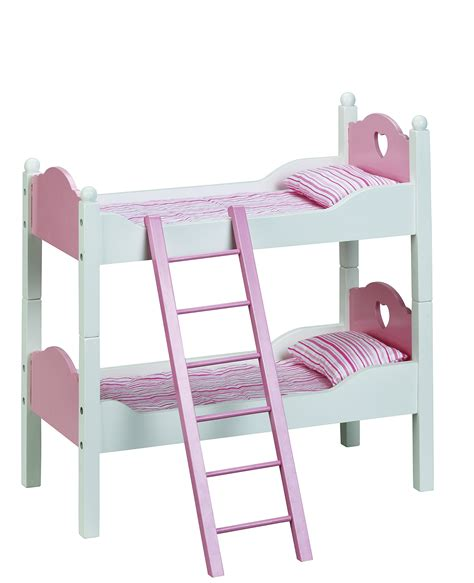 Wooden Doll Bunk Bed Beverly 2 In 1 Wooden Doll 2 Single Beds Bunk Bed Bedding Ebay