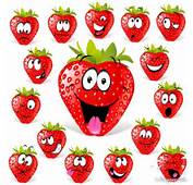 Cartoon Fruit Expression Strawberries Lovely