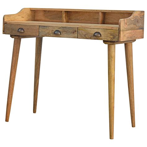 solid wood writing desk with drawers wholesale oak ish 3 writing desk