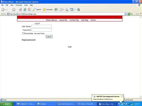 online tutorial asp net online photo album in asp net free source code