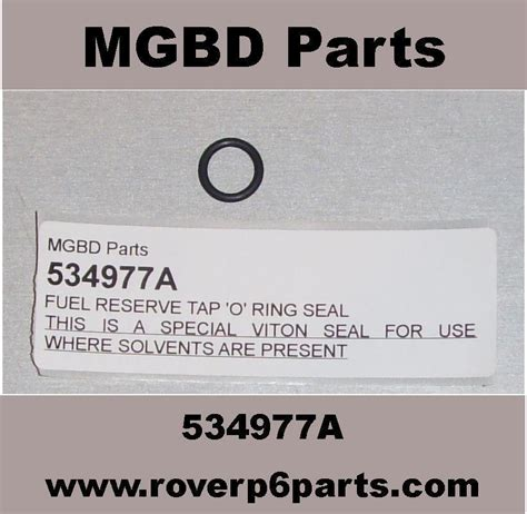 Oring Viton P5 fuel reserve tap o ring seal modern fuel safe rover