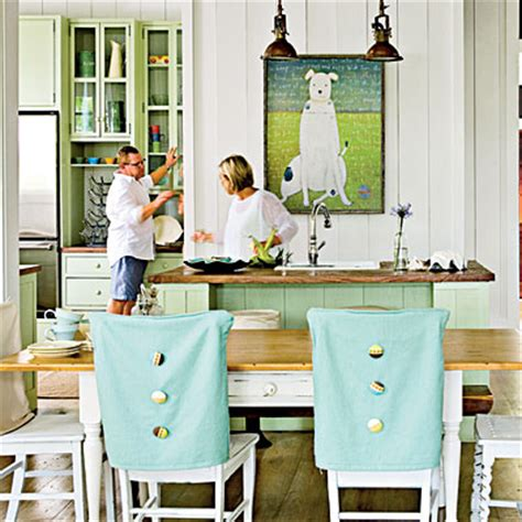Aqua Dining Room Chair Covers Dining Rooms With A Coastal Touch Slipcovers Chairs And