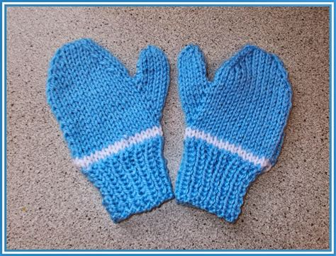 how to knit mittens for beginners easy two needle children s mittens allfreeknitting