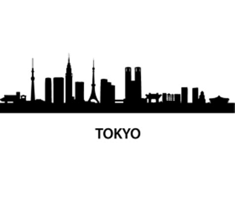 Wall Sticker Map Of The World tokyo skyline wall decal
