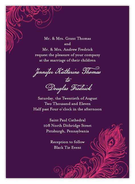 Wedding Ceremony Invitation Card by Indian Wedding Invitation Wording Template Shaadi Bazaar