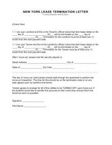 free new york lease termination letter form 30 days