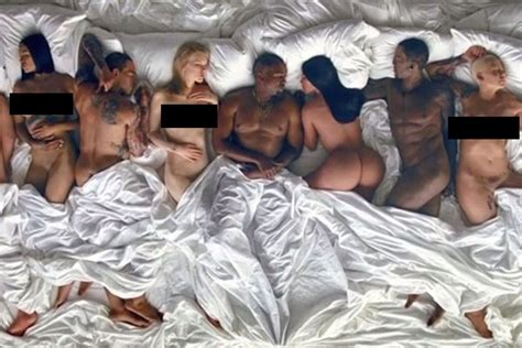 kanye west in bed rihanna s position in kanye west s famous who she d rather be next to