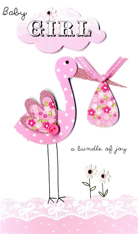 handmade new baby card new baby new baby girl new arrival