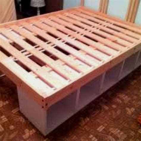 headboard frame diy diy bed frame with storage build pinterest