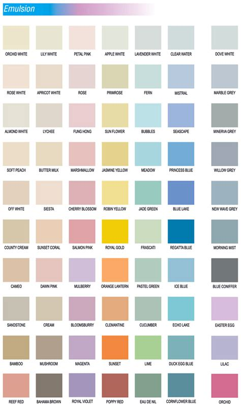 colour chart jotun paint