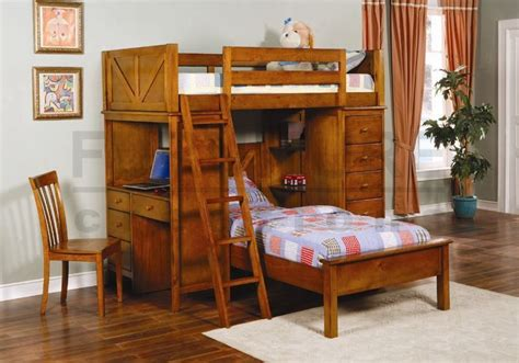 Oak Bunk Beds With Desk Solid Wood Bunk Bed Design Bookmark 7013