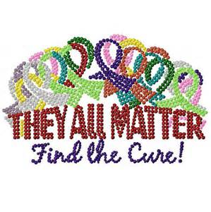 cancer awareness color digital file machine embroidery awareness ribbons all the