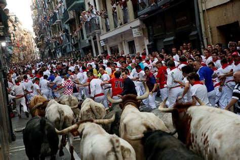 Running With The Bulls americans gored running with the bulls at san fermin