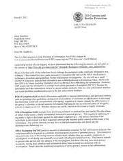 Border Patrol Cover Letter by Field Inspector S Manual Cbp
