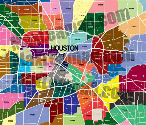 houston texas area code map houston zipcode map free zipcode map houston zipcode map