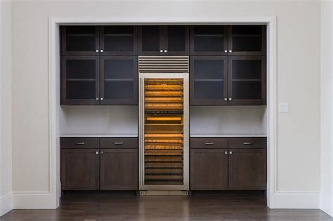 Wine Cooler For Kitchen Cabinets by Kitchen Alcove With Wine Cooler Transitional Kitchen