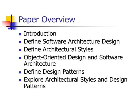 design pattern recovery in object oriented software ppt presented by ken waller eel 6883 software
