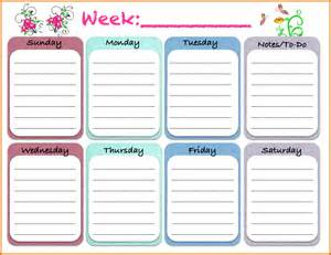 weekly schedules weekly planner cute png png scope of