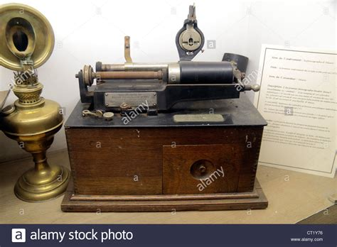 An Edison Spring Motor Phonograph Machine On Display At