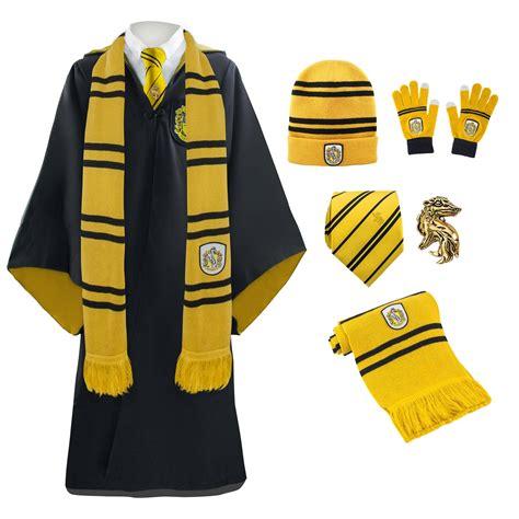 Hogwarts by Full Uniform Scarf Necktie Gloves Beanie Robe