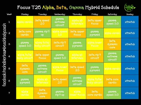 Calendrier T 25 25 Best Ideas About T25 Workout On T25