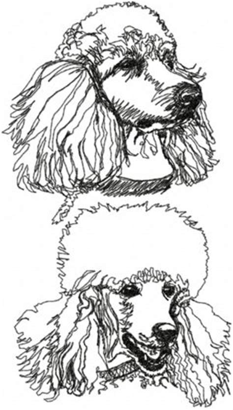 advanced embroidery designs poodle set