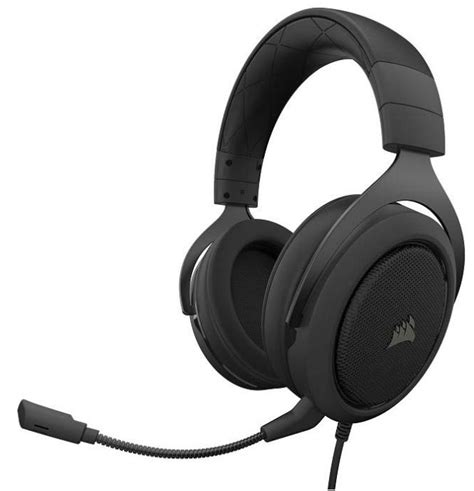 Corsair Hs50 Stereo Gaming Headset Carbon ausinės corsair stereo gaming headset hs50 carbon eu