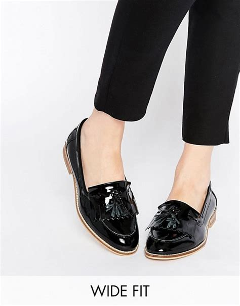 wide fit flat shoes asos asos chance wide fit leather flat shoes
